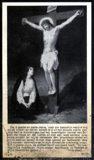 Bidprentje Toussaint Hubert Houdret.